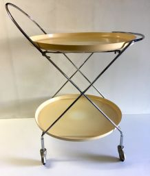 Table d'appoint/desserte métal chromé – années 70