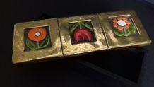 Boîte à bijoux bois et émaux