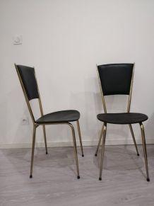 Lot de 7 chaises années 50/60