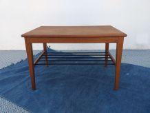 Table basse scandinave en teck années 60