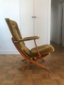 Lot de 3 fauteuils scandinaves 70's