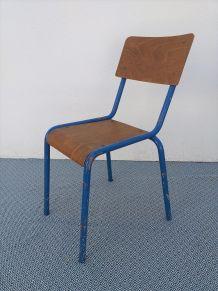 Chaise écolier vintage Mullca années 50
