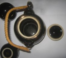 Service A Thé noir emaille Japonais Théière 6 Tasses vintage
