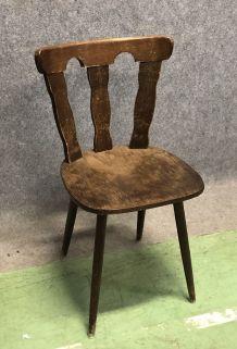 Chaises bistrot des années 70 pieds compas