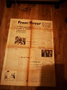 journal original d'époque franc tireur no de sept.1944