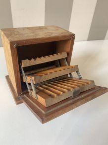 Boîte à cigarette bois ancienne