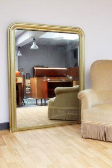 Miroir Haussmannien doré
