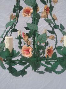 lustre fleurs en fer forgé