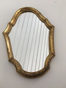 Miroir bois doré de style Louis XV sobre 33X22