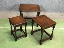 Table gigognes anglaises en acajou - années 50