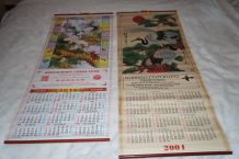 lot de 2 calendriers chinois
