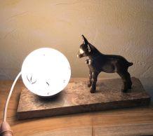 Lampe veilleuse style art déco