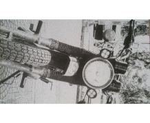 Affiche photo moto vintage