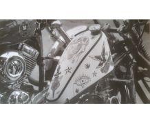 Affiche photo reservoir moto