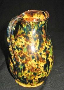 Ancien Petit Pichet Ceramique Provencal Anduze
