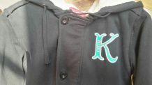 Veste sweat-shirt à capuche bleu nuit Kickers  T 12 ans