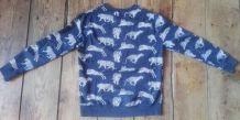 Sweat-shirt bleu imprimé tigres Zara Boys 13/14 ans Bon état