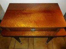 Table de chevet rétro vintage  vernie coloris miel 70's