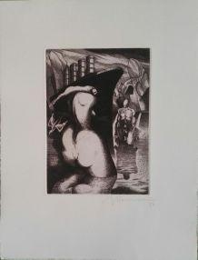 Gravure originale signée Giovanni GIANNINI