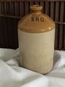 Pot en grès vernissé bicolore - SRD