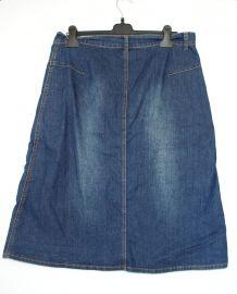 Jupe en jeans trapèze mi longue Taille 44 en parfait état co