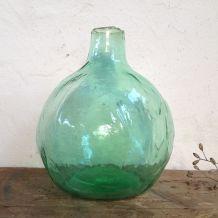 Vase bonbonne en verre bullé