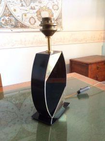 Pied de lampe noir et or vintage
