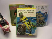 lot 4 bibliothèque verte Jules Verne