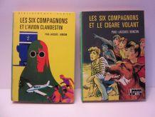 """lot 2 bibliothèque verte """"Les six compagnons"""" Bonzon"""