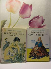 lot 2 bibliothèque rose Comtesse de Ségur