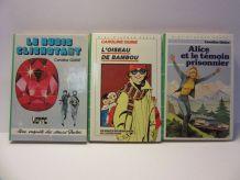 "3 bibliothèque verte ""Alice/Soeurs Parker"" Caroline Quine"