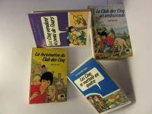 """lot 4 bibliothèque rose """"Club des Cinq"""" Enid Blyton"""