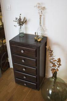 Chiffonnier ancien en bois vintage
