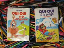 "lot 2 bibliothèque rose ""Oui-Oui"" Enid Blyton"