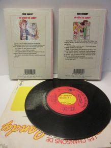 "lot 2 bibliothèque rose+1 vinyl 45T ""Candy"""