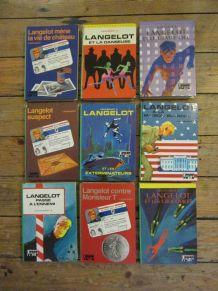 """lot 9 bibliothèque verte """"Lancelot"""" Lieutenant X"""