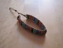 Bracelet mixte pierre naturelle sur cordon fin