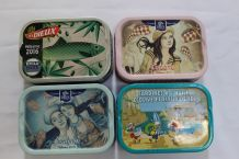 lot de 4 boites de sardines de collection VIDE