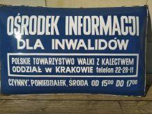 Plaque émaillée polonaise bombée