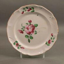 assiette en faïence Niderviller XIXème siècle