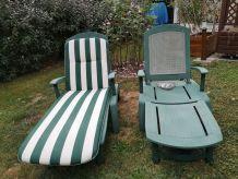 chaises longues de jardin