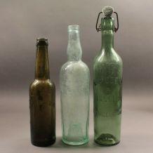 lot de 3 bouteilles ww1 avec inscription