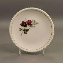 Petite assiette ancienne luneville K&G décor de roses