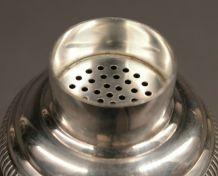 shaker en métal argenté art déco