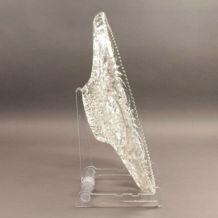 Plat de service en cristal taillé - présentoir en cristal