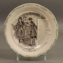 assiette ancienne historiques IX- La vivandière