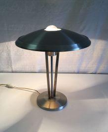 Lampe de bureau « champignon » en aluminium - années 60