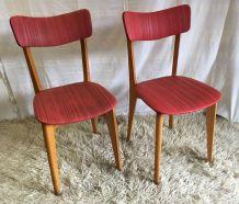 Duo de chaises vintage - années 50