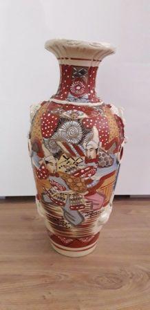 Grand vase Satsuma fin XIXème signé