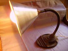 Lampe industrielle Eagle 1940/50 U.S.A pied en fonte